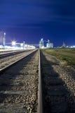 Railyard e sili di granulo Immagini Stock Libere da Diritti