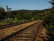 Railyard från Birnova Arkivfoton