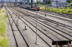 Railyard in Geneva Royalty Free Stock Images
