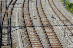 Railyard in Geneva Stock Photography