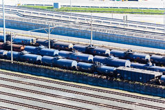 Railyard Tankers Tracks Transport Royalty Free Stock Photo