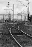 Railyards - Black & White Royalty Free Stock Image