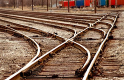 railyardserieströmbrytare Arkivfoto
