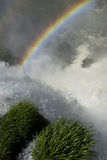 Raimbow over the waterfalls Stock Image
