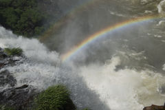 Raimbow over the waterfalls Stock Photography