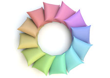 Raimbow pillows Stock Photo