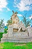 Raimund Ferdinand Sculpture en Weghuberpark Viena fotografía de archivo libre de regalías