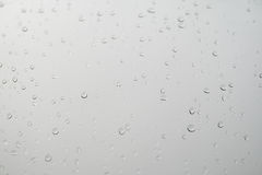 Rain. Some raindrops on the glass stock images
