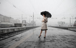 In the rain Royalty Free Stock Images