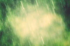 Rain. A beautiful rain falling background with copyspace Royalty Free Stock Images