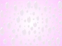 Rain. On pink vektor illustration Stock Images