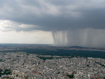 Rain. Amazing rain in the Paris city royalty free stock photography