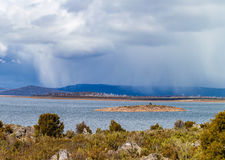 Rain above the Great Lake, Tasmania Royalty Free Stock Images
