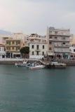 Rain in Agios Nikolaos Stock Photo