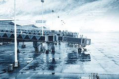 Rain Airport Stock Images