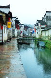 Rain ancient villages. Jiangxi Wuyuan is China's most beautiful rural areas, these ancient villages, many buildings are more than 200 years before the Stock Photography