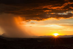 Rain approaching in the desert Royalty Free Stock Photo