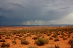 Rain in Arizona. Rain in desert, Page, Arizona stock images