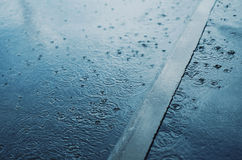 Rain, autumn day Stock Photography
