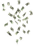 Rain from banknotes of dollars Royalty Free Stock Images