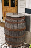 Rain Barrel outside a Country Store Royalty Free Stock Photo
