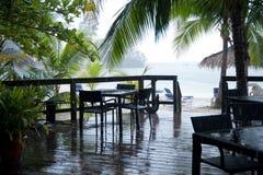 Rain on the beach Stock Image