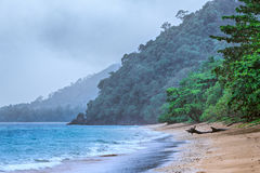 Rain on the Beach Stock Images