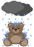 Rain and bear Royalty Free Stock Image