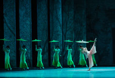 The rain beat on the banana leaf-The second act of dance drama-Shawan events of the past. Guangdong Shawan Town is the hometown of ballet music, the past focuses Stock Photography