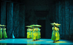 The rain beat on the banana leaf-The second act of dance drama-Shawan events of the past Stock Photography
