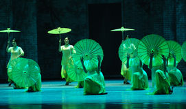 The rain beat on the banana leaf-The second act of dance drama-Shawan events of the past Royalty Free Stock Photo