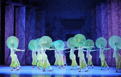 The rain beat on the banana leaf-The second act of dance drama-Shawan events of the past. Guangdong Shawan Town is the hometown of ballet music, the past focuses Royalty Free Stock Image