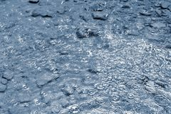 Rain. Beautiful abstract background with bad weather. Rain drops falling into the water. Rain. Beautiful abstract background with bad weather. Rain drops Stock Photos