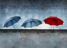 Rain behind the wall Stock Photography