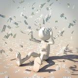 Rain of bill vector illustration