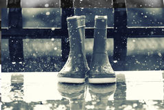 Rain and boots Stock Image