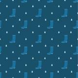 Rain boots seamless pattern Royalty Free Stock Photo