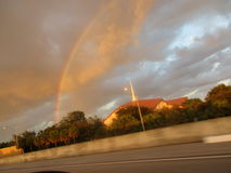 Rain bow. Catch a rainbow after aheavy rain Stock Photos