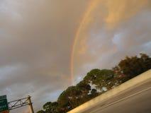 Rain bow. Catch a rainbow after aheavy rain Royalty Free Stock Image