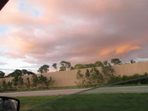 Rain bow. Catch a rainbow after aheavy rain Stock Images