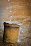 Rain bucket Stock Photo