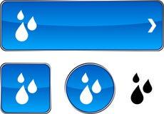 Rain  button set. Royalty Free Stock Photos