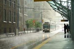 Rain in Calgary stock images
