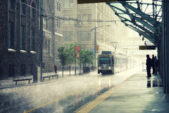 Rain in Calgary. City, Canada Royalty Free Stock Images