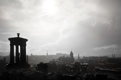 Rain in Calton Hill Stock Images