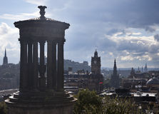 Rain in Calton Hill Royalty Free Stock Images