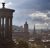 Rain in Calton Hill Royalty Free Stock Image