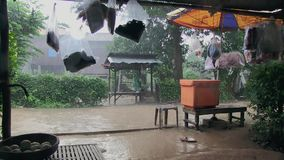 Rain , cambodia, southeast asia Stock Photography