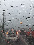 Rain in car. Raining time in my car Royalty Free Stock Photos