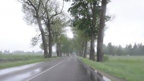 Rain car windscreen stock footage